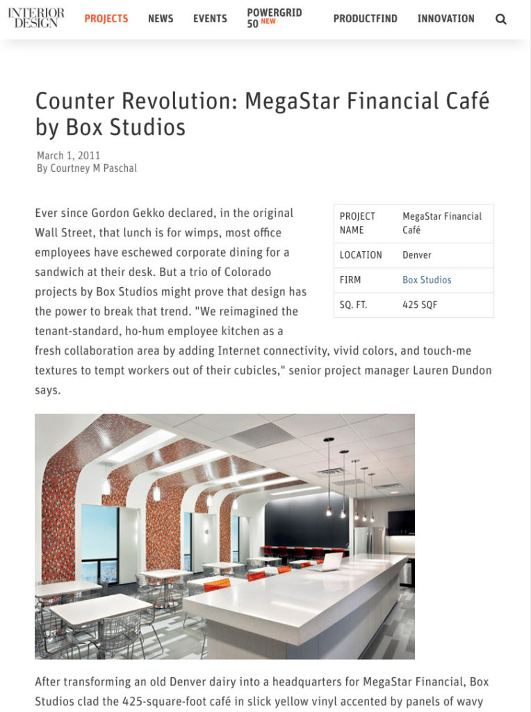 Counter Revolution: MegaStar Financial Cafe by BOX Studios