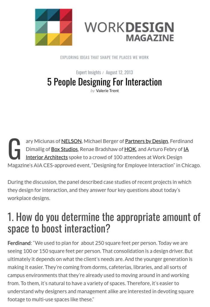 WorkDesign Magazine - 5 People Designing for Interaction